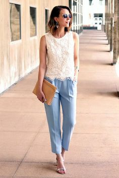 45 Work Outfits to Wear this Summer - Page 3 of 3 - Latest Fashion Trends ....just like the whole look, simple & fresh