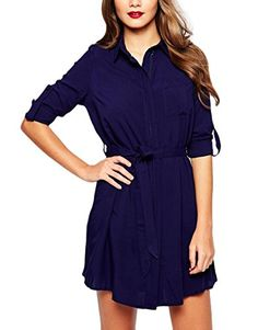 Nemidor® Women's Long Sleeve Casual Elegant Party Mini Dress (4, Navy blue) Nemidor http://www.amazon.com/dp/B01CDVDQ2W/ref=cm_sw_r_pi_dp_lJ63wb1E7TWDD
