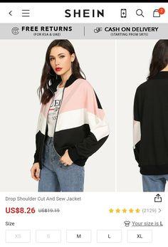 Drop Shoulder Cut And Sew Jacket  Use promocode: SADCA15 for 15% discount