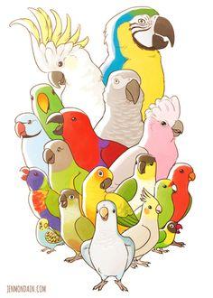 jenmondain: My bird print for SMASH! I hope everybody loves...