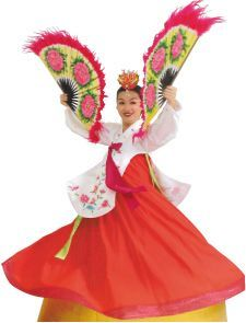 beautiful Korean dancer-  I used to do this fan dance when I was a little girl