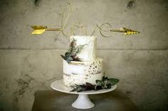semi naked gold leaf wedding cake - Google Search