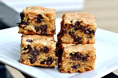 peanut butter chocolate chip bars - i have been making these for years and they are always a hit!