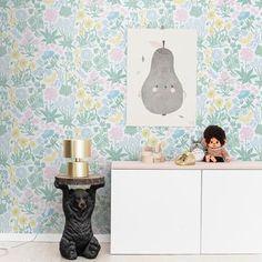 Kids Room Wallpaper, Wallpaper Size, Green Wallpaper, Modern Wallpaper, Wallpaper Samples, Flower Wallpaper, Designer Wallpaper, Pattern Wallpaper, Bedroom Wallpaper