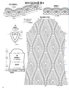 Crochet sweater chart 3