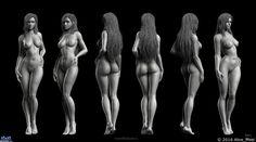 Female Anatomy Study — Компьютерная графика и анимация — Render.ru