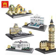 Wange Architecture series the The Egyptian Pyramids The Big Ben model Building Block set Classic landmark toys for children #Affiliate
