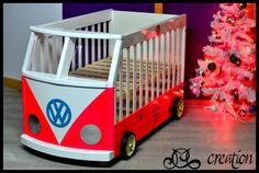 Lit Bébé combi en bois : Chambre d'enfant, de bébé par mccrea