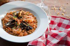 Fregola sarda with seafood - replace fregola w quinoa, etc...