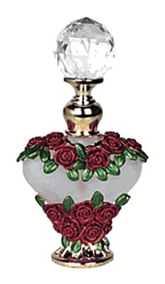 Red Rose Perfume Bottle