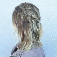 Two Dutch Braids Half Up Hairstyle for Mid Length Hair