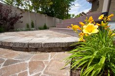Custom paving for Salt Lake City and Park City landscape designs. Custom paving estimates from Land Design by Armstrong at Landscape Pavers, City Landscape, Landscape Design, Backyard Pavers, Flagstone Walkway, Concrete Contractor, Landscape Services, Stamped Concrete, Salt Lake City