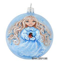 """Подарок Эксклюзивный шар на елку """"Ангел счастья"""""""
