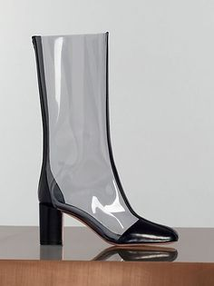 celine clear plastic boots, s/s 2013