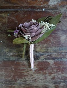 Provencal Jardin Sola Flower Boutonniere Wood Flower Boutonniere