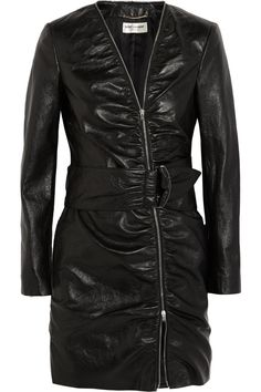 Saint Laurent|Leather mini dress