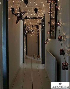 enchanting lights down a hallway