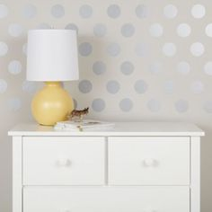 Silver circle wall decals from Land of Nod