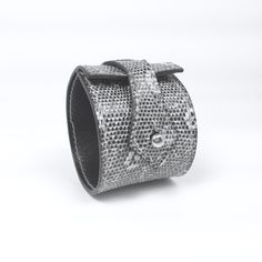 Coco & Rupert Lizard Skin Leather Cuff by CocoandRupert on Etsy