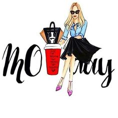 With great hair, great nails and a skin full of confidence youll be ready to take on your Monday Boss Lady, Girl Boss, Illustration Art, Illustrations, Fashion Wall Art, Fashion Quotes, Fashion Sketches, Fashion Drawings, Cute Art