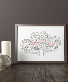 This Twin Hearts Word Art Print makes a lovely gift or keepsake for a couple. You can Personalise it by adding each of their names and any other meaningful Valentine Words, Valentines, Love Dream, My Love, Personalised Prints, One Wish, Anniversary Dates, Meaningful Words, Word Art