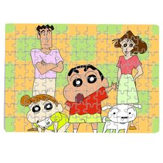Personalised Customized Puzzle Photo Logo Text Crayon Shin Chan!