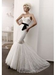 Lace Mermaid Beaded Sweetheart Neckline Boned Bodice Wedding Dress