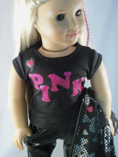 American Girl DollLove PinkJacketTeePants and by MIGURLZCLOTHING, $35.00