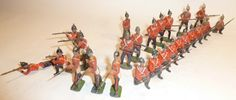 Lot 135 - Britains Infantry of the Line on Guard from sets 16, 17 and 18, including four FIRST VERSION figures