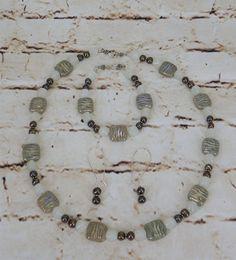 Freshwater Pearl Porcelain Glass Bead Bali Necklace Bracelet Earrings Handmade #Handmade