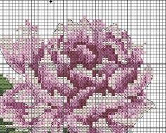 Zz Cross Stitch Rose, Cross Stitch Flowers, Counted Cross Stitch Patterns, Projects To Try, Embroidery, Floral Patterns, Lotus, Craft, Vintage