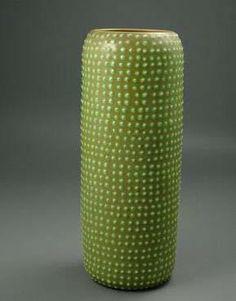 Italian Studio Pottery Mid-Century Modern Cactus Vase