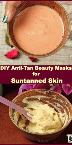 DIY Anti-Tan Beauty Masks for Suntanned Skin. Applying an anti-tan face mask helps fade a summer tan fast. Plus, it helps remove dark spots and blemishes and add a radiant glow to your skin. Face Scrub Homemade, Homemade Face Masks, Diy Face Mask, Face Diy, Remove Tan From Face, How To Remove Tan, Diy Beauty Mask, Face Mask For Spots, How To Tan Faster