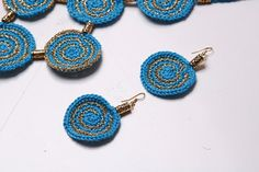 FREE SHIPPING Turquoise jewelryCrocheted jewelry от ButiculColorat