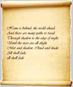 Pippin's song LOTR