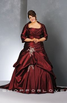 Red wedding dress plus size