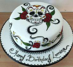Skull cake Halloween Birthday Cakes, Halloween Food For Party, Halloween 2019, Skull Wedding Cakes, Sugar Skull Wedding, Sugar Skull Cakes, Sugar Scull, Cake Pictures, Cake Pics