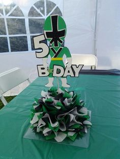 Power Rangers centerpiece shellysdecor4you@gmail.com #Birthdays #BabyShowers #Graduations etc...