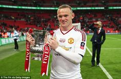 GLENN HODDLE: Manchester United deserved to win the FA Cup. Red Devils captain Wayne Rooney ran the show from midfield. Manchester United Fa Cup, Wayne Rooney, The Right Man, Old Trafford, Crystal Palace, Man United, Over The Years, The Unit, Football