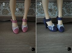 little cute heel shoes with little dots and lace for a romantic style! create for minifee active line, approximately 5,5cm interior length heel feet needed!   !!ONLY ONE OF EACH AVAILABLE!!  completely handmade Please, keep in mind its a handmade non professionnal work, realized in an artisanal way for the creation and finishing as an amateur work, it can contain some little defects   If you have any questions or if you wish more photos, ask me  Thank you for your visit!  --------  Items are…