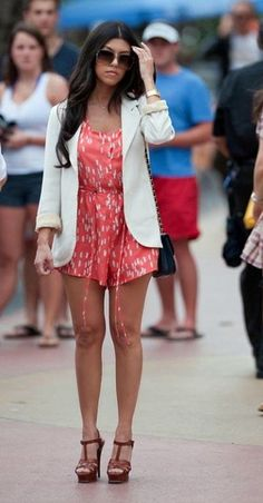 romper with blazer
