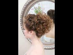 Wedding hair video tutorial: updo with curls and front braid - YouTube
