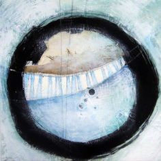 Augustin Castillo mixed media painting - Abstract No.510/30x30 cms/ 11x11 in