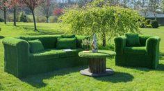 artificial grass garden sofa by artificial landscapes ...
