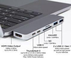 MacBook Pro Thunderbolt 3 USB-C Hub