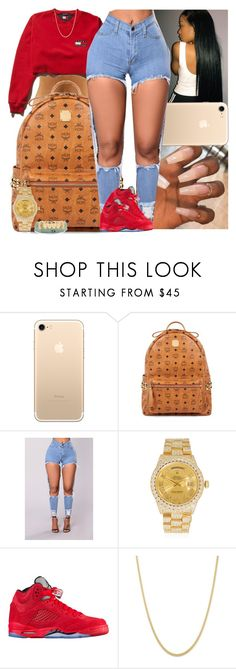 """Untitled #1223"" by msixo ❤ liked on Polyvore featuring MCM and Rolex"