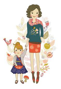 Cozy moment Illustration by Szonja Kiss