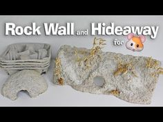 Rock Wall and Hideaway Made From Drink Carriers DIY By Hammy Time - YouTube