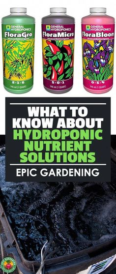 Hydroponics Gardening Hydroponic nutrient solutions can be a tricky topic, so let's demystify them! Learn everything you need to know about how to grow with hydroponic nutrients here. Aquaponics System, Hydroponic Farming, Hydroponic Growing, Aquaponics Garden, Growing Plants, Aquaponics Fish, Hydroponics Setup, Growing Veggies, Hydroponic Nutrient Solution