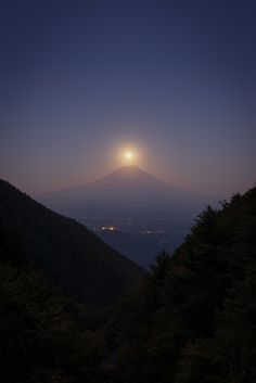 Photograph Harvest Moon Over Mt. Fuji by Yuga Kurita on 500px